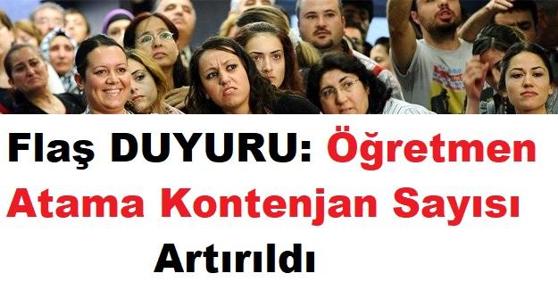 MEB'den Flaş DUYURU: Öğretmen Atama Kontenjan Sayısı Artırıldı