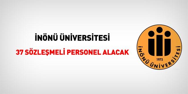 İnönü Üniversitesi 38 Devlet Memuru Alım ilanı