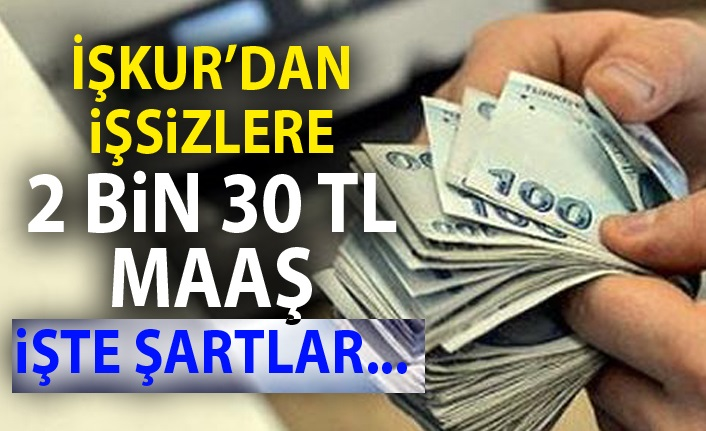 İŞKUR'DAN İşsiz Kalan Vatandaşlara 2 bin 30 TL Ödeme Yapılacak
