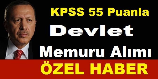 KPSS En Az 55 Puan ile VHKİ ve Memur Alım İlanı