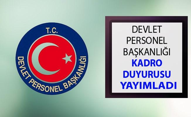 Devlet Personel Başkanlığı Kadro ve Atama Duyurusu 2019