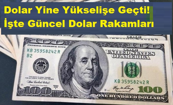 Flaş! Dolar Yine Yükselişe Geçti! İşte Güncel Dolar Rakamları