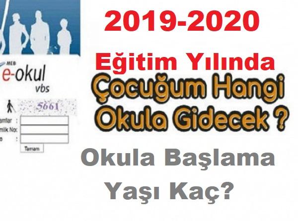İlkokul ve ortaokul kayıtları ne zaman başlayacak çocuğum hangi okula gidecek 12222-2020 MEB e okul