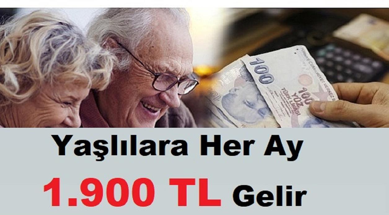 Yaşlılara Her Ay 1.900 TL Gelir