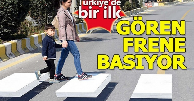 İşte Türkiye'deki ilk 3/D Yaya Geçidi