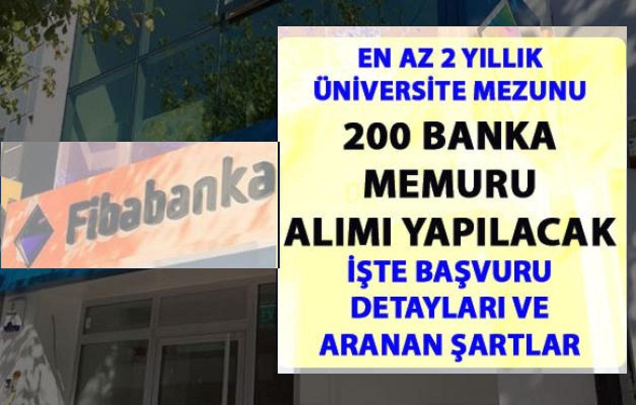 Fibabanka 200 Banka Memuru Alımı