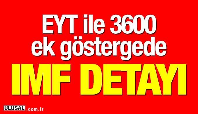 Eyt de 3600 Ek Gösterge Hakkında İmf Detayı