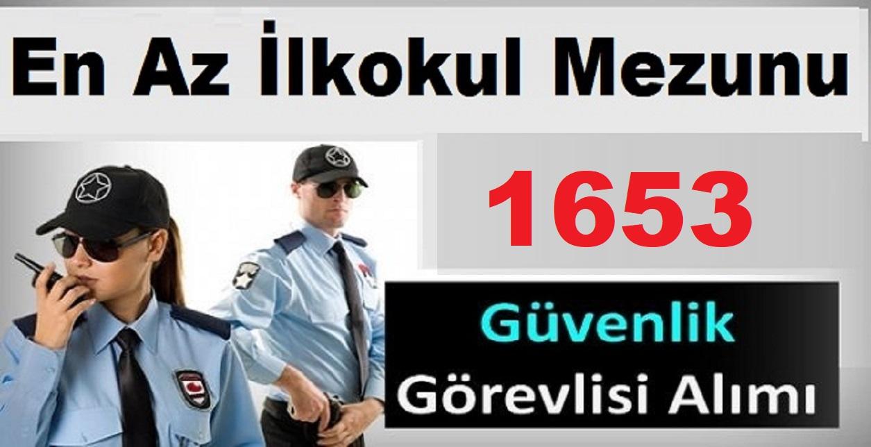 1405 Güvenlik görevlisi ve Güvenlik Amiri Müdür alınıyor