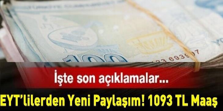 EYT'lilerden seçim sonrası yeni paylaşım: 1093 TL maaş!
