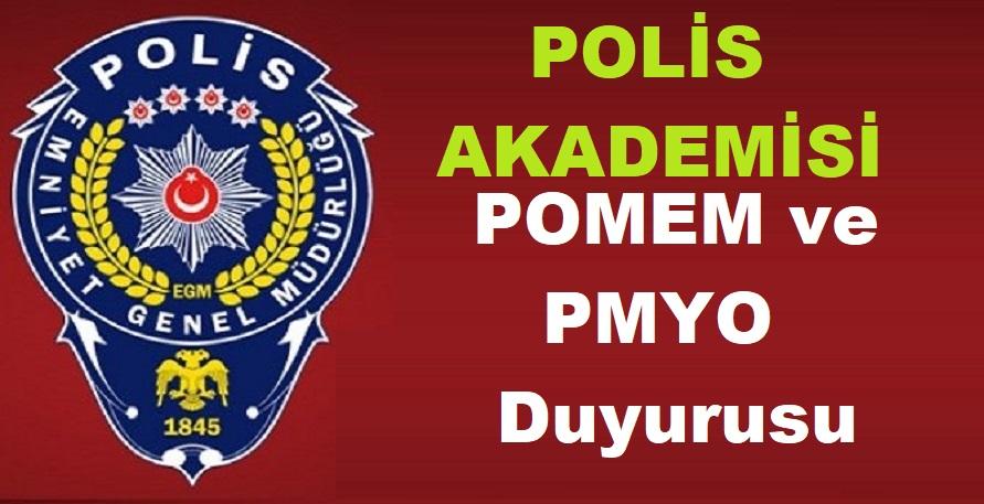 Polis Akademisinden POMEM ve PMYO Duyurusu