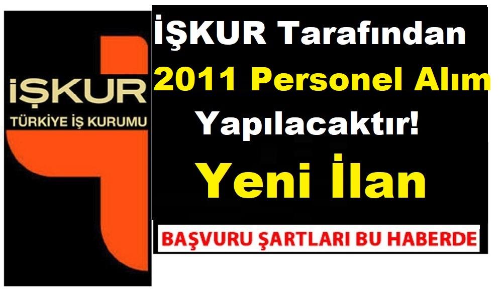 Şanlıurfa'da 2011 TYP İŞKUR personeli alımı