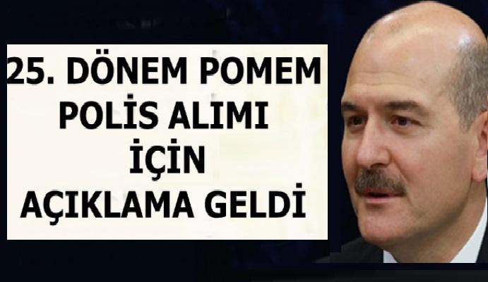 Süleyman Soylu 'dan 25. Dönem POMEM İstanbul 'a polis alımı açıklaması
