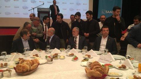 Binali Yıldırım reddetti... Ekrem İmamoğlu, Saadet Partisi'nin davetine katıldı