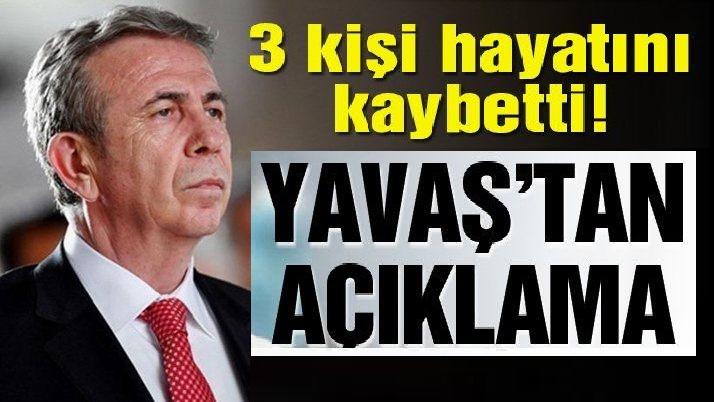Mansur Yavaş'tan Ankara'daki selle ilgili açıklama