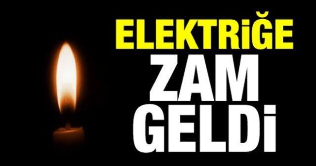 Elektriğe yine zam geliyor