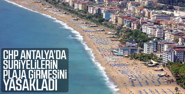 Antalya'nın Gazipaşa ilçesinde Suriyelilerin Gazipaşa'daki plajlara girişi yasaklandı.