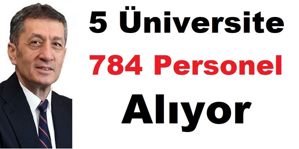 5 Üniversite 784 Akademik Personel Alıyor