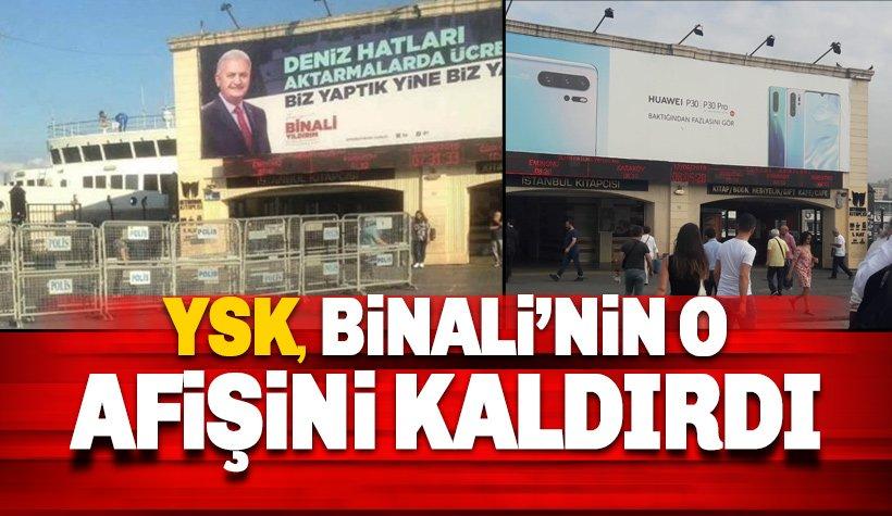 Binali Yıldırım, Cumhurbaşkanı Erdoğan afişleri ve polis barikatı ile kaldırıldı.