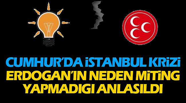 Cumhur İttifakında İstanbul Krizi Erdoganın neden miting yapmadıgı anlaşıldı