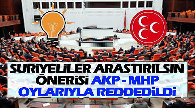 Suriyeli Sığınmacılar Araştırılsın Önerisi AKP-MHP Oylarıyla Reddedildi