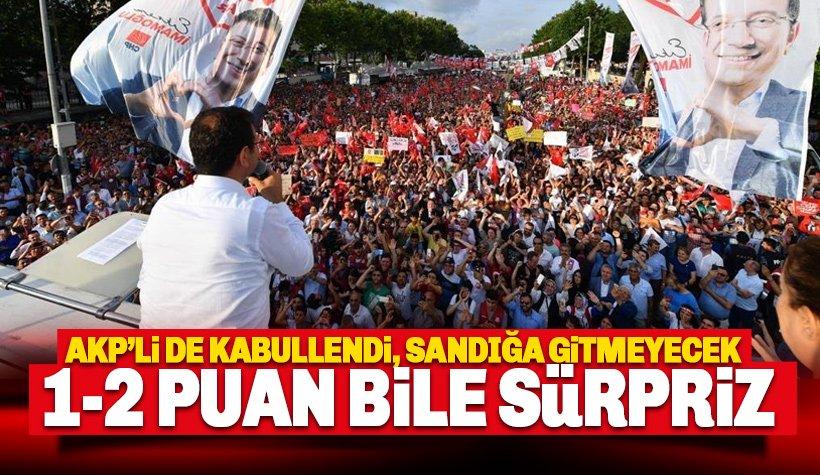 AK Parti Sandığa gitmeyecek: Yıldırım'ın 1-2 puan farkla kaybetmesi sürpriz