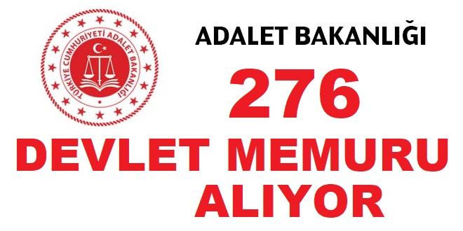 Adalet Bakanlığı çeşitli pozisyonlarda sözleşmeli 276 Devlet Memuru Alıyor