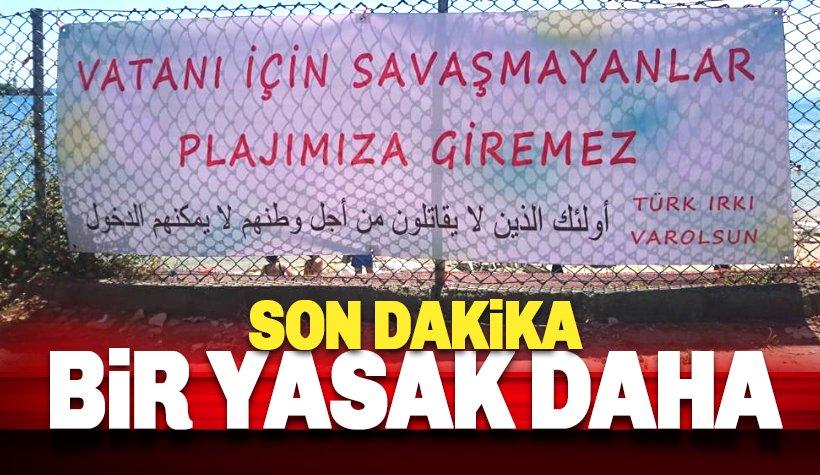 Flaş! Suriyelilere bir plaj yasağı da Sinop'tan geldi