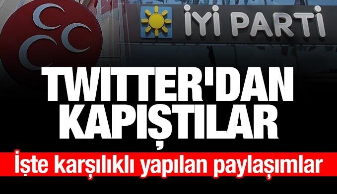 MHP ve İyi Parti, Twitter'da birbirine girdi!
