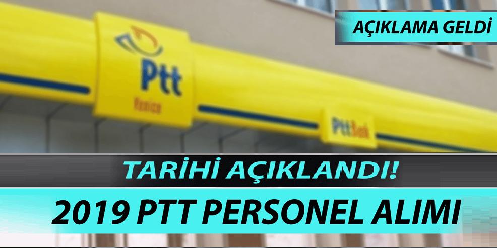 PTT 2019 Yılı Personel Alımı Tarihi Açıklandı