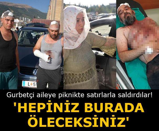 Kahramanmaraş'ta pikniğe giden Koyuyeşil ailesi  işletme sahiplerinin saldırısına uğradı.