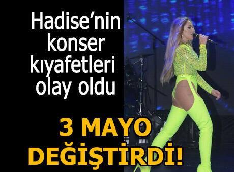 Hadise'nin Harbiye konserinde giydiği kostümler olay oldu!