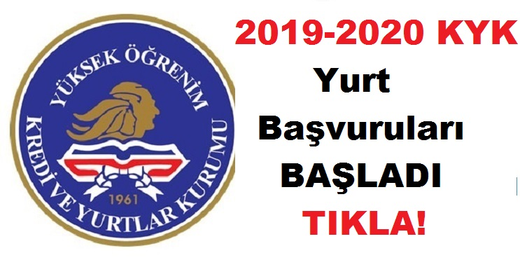 2019-2020 KYK Yurt Başvurusu Yurt Başvuruları Başladı