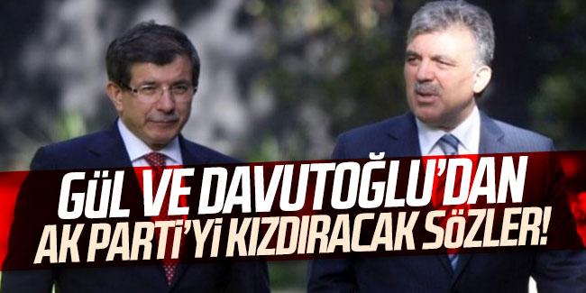 Abdullah Gül ve Davutoğlu'ndan kayyum açıklaması