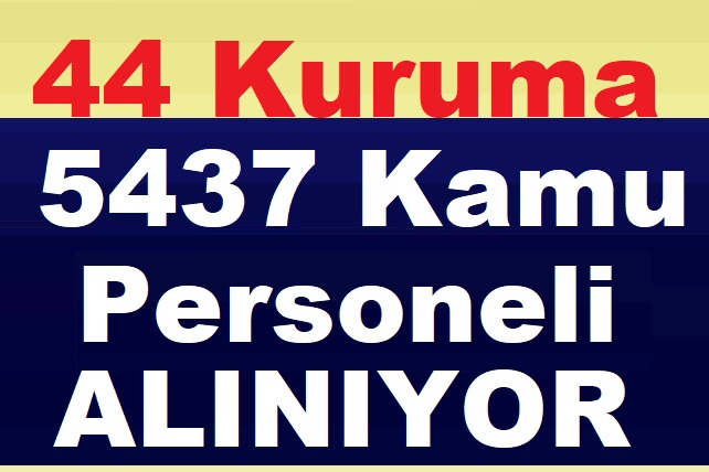 44 Kamu kurumu 5437 Kamu Personeli Alımı