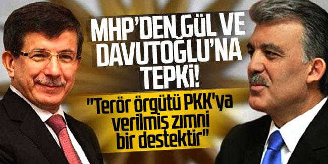 Gül ve Davutoğlu'nun kayyum tavrı PKK'ya verilmiş zımni bir destektir
