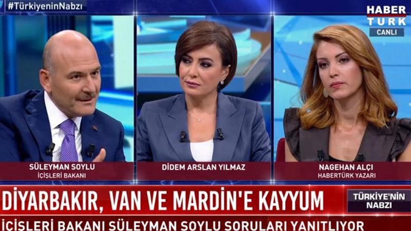 Nagehan Alçı'nın Süleyman Soylu'ya sorduğu soru sosyal medyanın gündemine oturdu