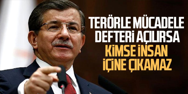 Ahmet Davutoğlu, Erdoğan'a meydan okudu: Konuşursam kimse insan içine çıkamaz