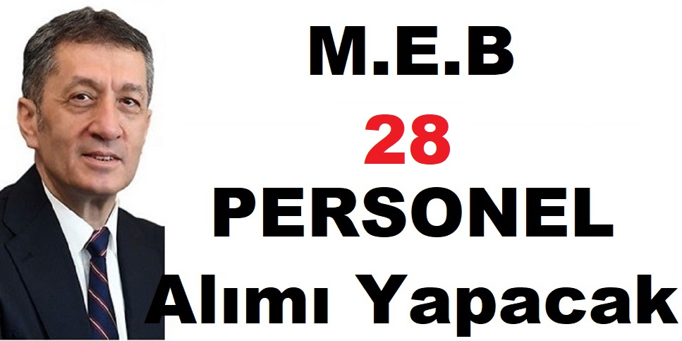 MEB 657'ye tabi 28 Devlet Memuru Alıyor