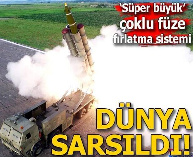 """""""Süper büyük"""" çoklu füze fırlatma sistemi... Dünya sarsıldı!"""