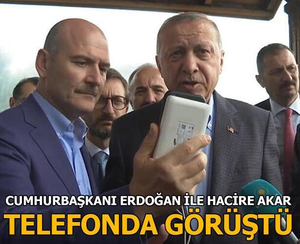 Erdoğan, Diyarbakır HDP İl Başkanlığı önünde oğlunu kurtarmak için oturma eylemi yapan Hacire Akar ile telefonda görüştü.