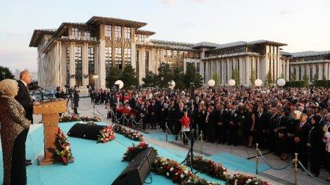 30 Ağustos resepsiyonuna damga vuran Akşener-Erdoğan fotoğrafı