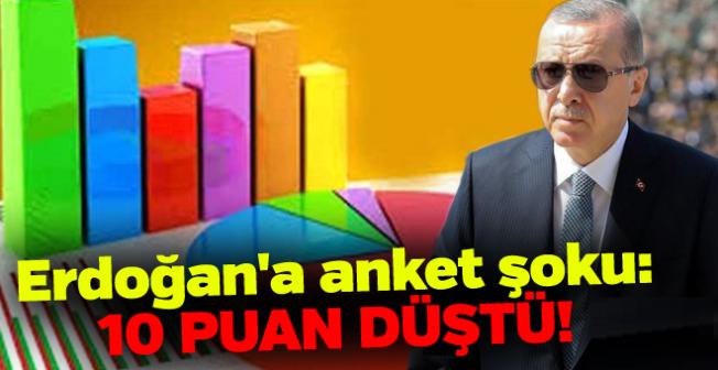 Erdoğan'a görev onayı veren vatandaşların oranı bir yılda yüzde 10 düştü