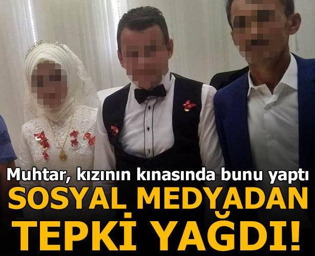 Samsun'da kızının kınasında yaptıklarına sosyal medyada tepki yağdı