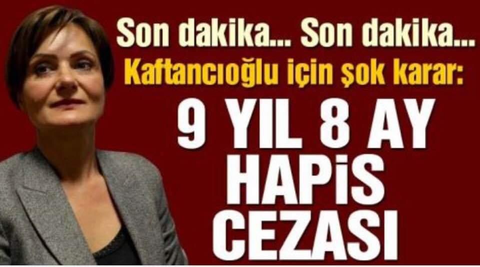 Canan Kaftancıoğlu hakkında 9 yıl hapis cezası istendi