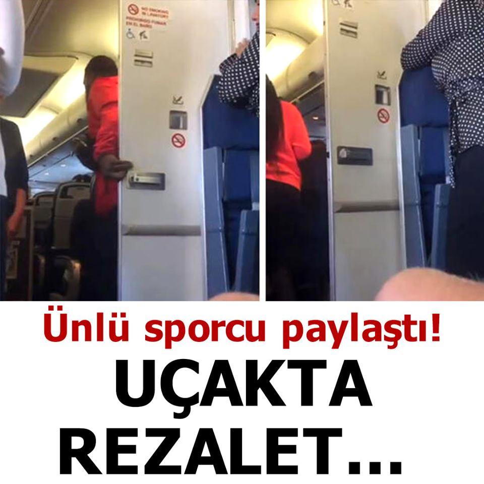 Uçakta rezalet... Ünlü sporcu paylaştı!