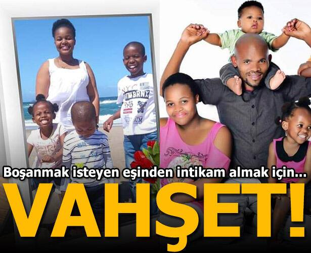 Güney Afrika'da bir adam, boşanmak isteyen eşinden intikam almak için 4 çocuğunu asarak öldürdü..