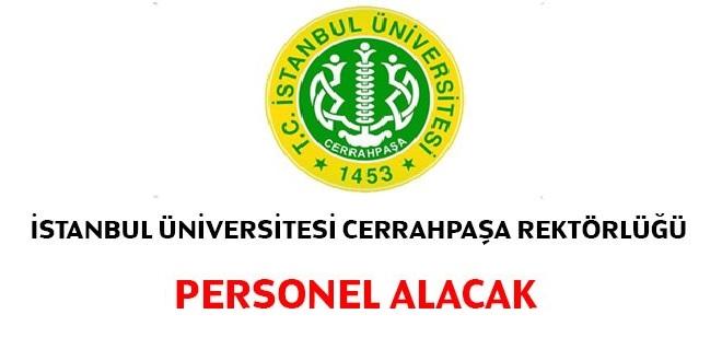 İstanbul Cerrahpaşa Üniversitesi Kamu Personeli Alımı 2020