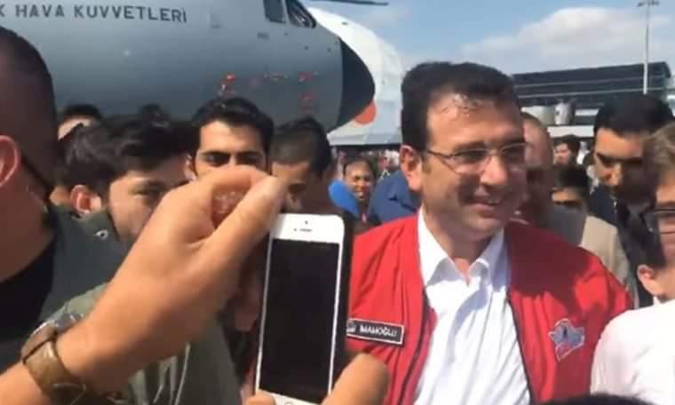"""İmamoğlu'nun yürüyüşü sırasında """"Recep Tayyip Erdoğan"""" sesi yükselirse... İşte o anlar"""