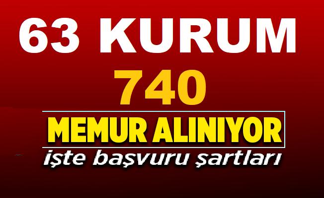 63 Belediye ve kamu kurumu KPSS'li ve KPSS'siz 740 memur-işçi ve nitelikli personel alımı yapıyor