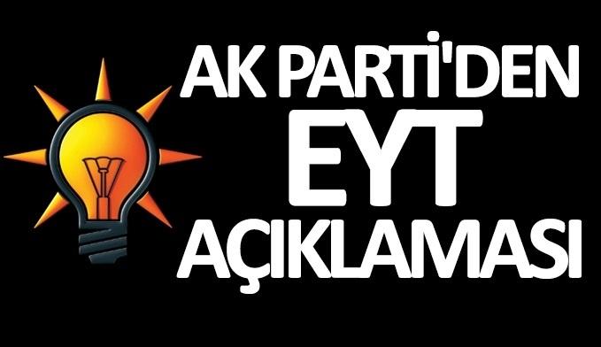 AK Parti'den EYT açıklaması
